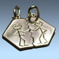 Eltörhető ezüst medál egy szerelmespárnak