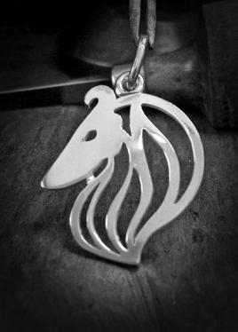 Skótjuhász kutya ezüst medál