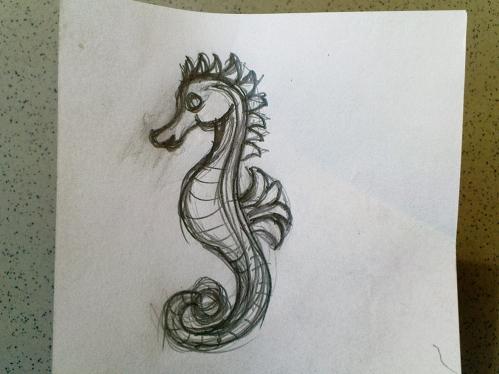 Csikóhalat rajzoltam