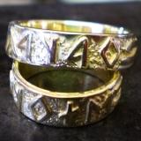 Karikagyűrűk rovásírással