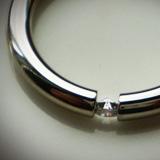 Fehérarany tórusz gyűrű briliáns kővel