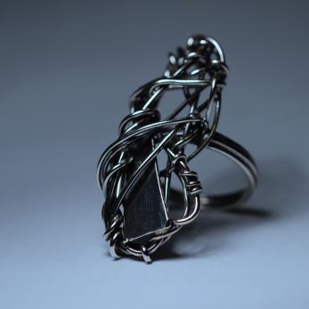 Hosszú gubanc gyűrű