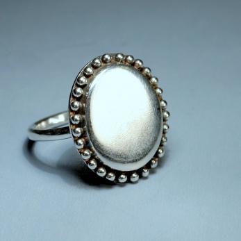 Ovális tükör gyűrű